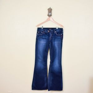 """SILVER JEANS Tuesday 22"""" Flare Dark Wash Jeans 32"""